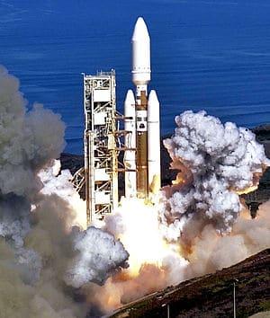 A Titan IV Centaur Launch at Vandenburg AFB