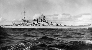 The Scharnhorst at Sea